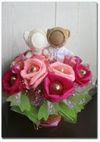 Конфетные розы с фотосувениром