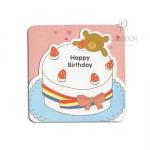"""Мини открытка с вырубкой """"Happy Birthday """""""