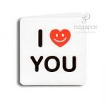 """Мини открытка """"I Love you"""""""