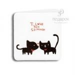 """Мини открытка """"I Love you so much"""""""