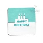 """Мини открытка с вырубкой """"Happy Birthday"""""""